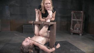 naked slut gets restrained and humiliated