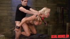 unbearable torture of a blonde milf