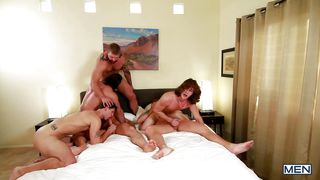 gay men have fun in bedroom