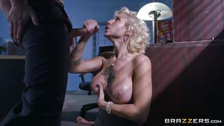 busty babe knows how to please her boss
