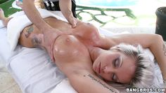 tattooed milf gets wild during spa