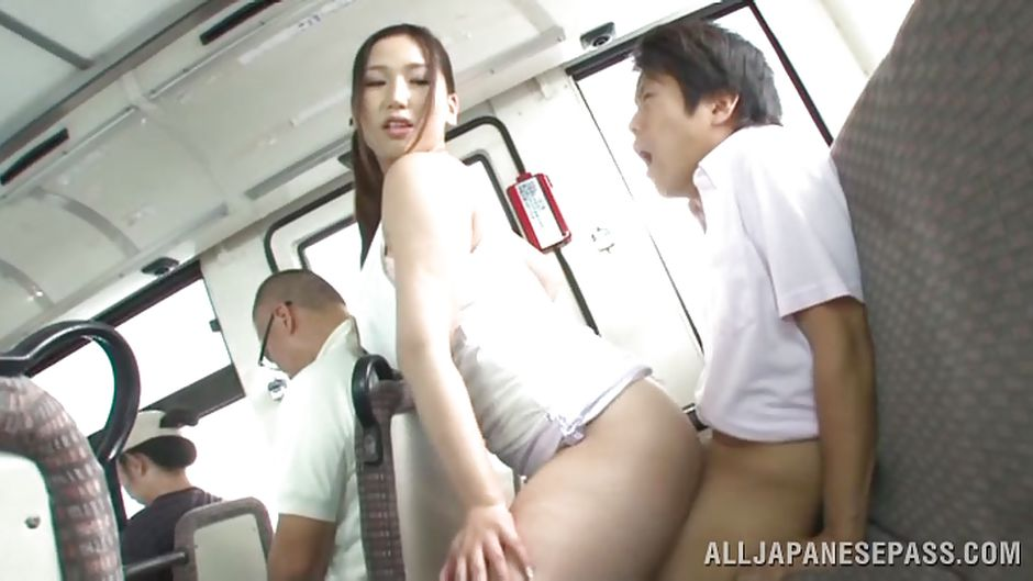 Japanese sex on public bus