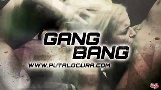 puta locura redhead teen latina in amateur gangbang