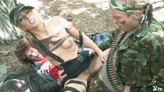blonde loves the army @ parodies season 1, ep. 60