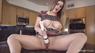making fresh pussy juice in the kitchen