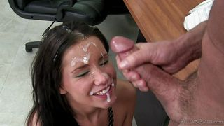 tanner gets teacher's cum on her face @ peter north is the nasty teacher, scene #01