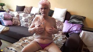 granny still has a soft corner for masturbation
