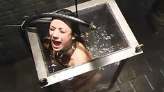 girl is locked in water tank