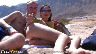 hot couple fucks hard outdoors