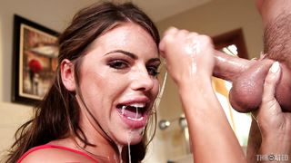 hungry babe gets face fucked