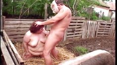 mature bbw fucked by masked guy on a pig farm @ phat farm