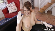 beata gives some gloved love