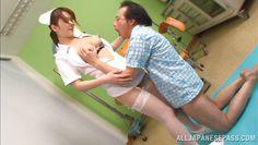 japanese nurse gives an amazing titfuck