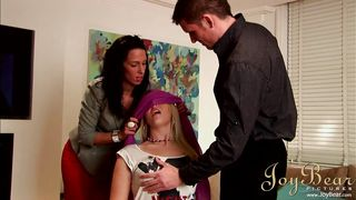 shay hendrix gets blindfolded and has her nipples licked