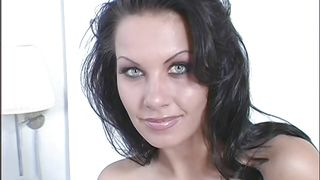 blue eyes devilish beauty and her pantyhose