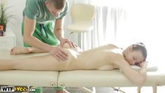 desirable margarita enjoys her massage