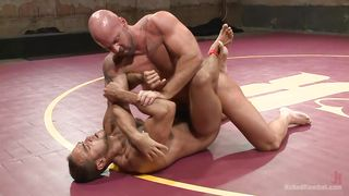 tough hunks wrestle in the nude