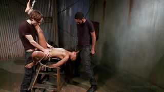 ebony slave gets fucked hard from both ends