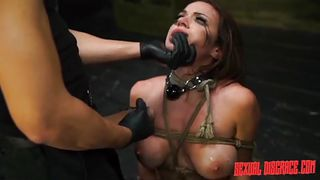 helpless kylie gets bonded and aroused
