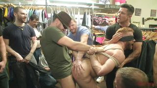 blindfolded tied and fucked by multiple cocks