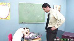 schoolgirl amai sucks the professor