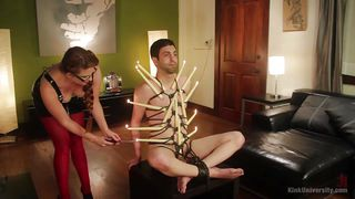 ms nikki nefarious demonstrates rope bondage and candle play