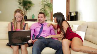 naughty ladies entertain a guy