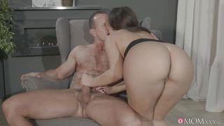 horny maid fucking her master