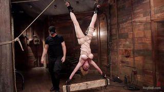 blonde naked bitch gets punished