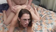 dorky slut fucked and facialized