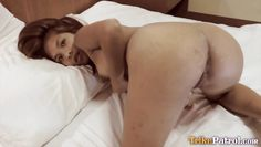 easy-going filipina plays with cock