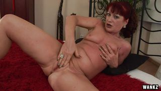 redhead granny fucked hard on the couch