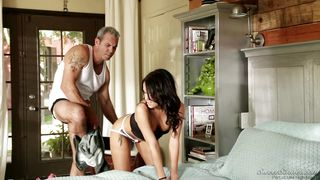 hot megan rain fucked hard by an older man @ father figure