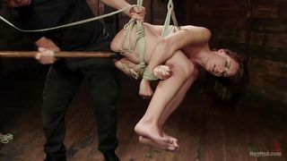 kayla gets caught in a rope bondage