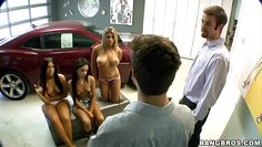 orgy in the garage