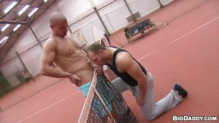 muscled gays on the tennis field