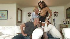 tranny maid puts on a show