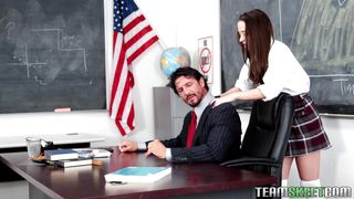 lusty nikki seduces a horny teacher