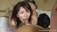 mature japanese slut gives an amazing blowjob