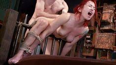 bonded redhead gets banged hard