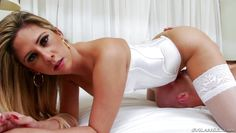 alluring ladyboy sits on her man's face
