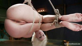 tied up blonde gets fucked by dominant guy