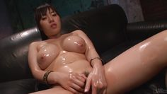 busty asian oiled up and ready to fuck