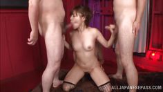 rina likes sucking two cocks simultaneously