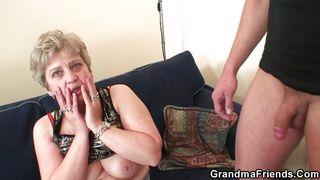 granny sucks it hard