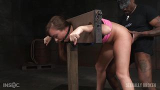 maddy gets broken in the stocks