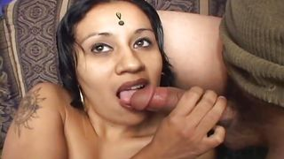 filthy indian whore sucks cock