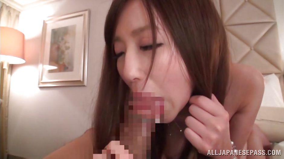 Asian slut blowjob and she slurps cum 10