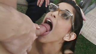 an orgy in the backyard