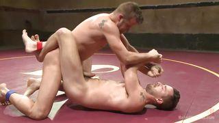 gay hunks wrestle